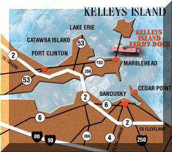 map of marblehead and kelleys island ohio